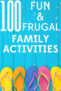 Summer just started and the kids are already bored? We've got you covered with 100 frugal and fun activities for the whole family.