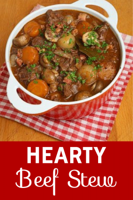 Comfort food at its best! This hearty beef stew is easy to make and freezes beautifully so you can even enjoy it on weekdays.