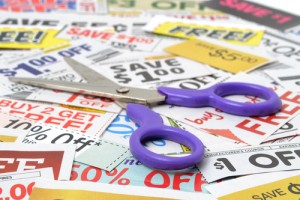 Cut coupons and save! Via Shutterstock
