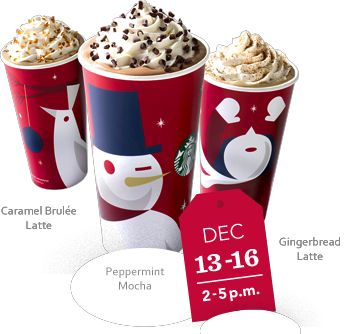 Thursday Freebies – Starbucks Holiday Drink BOGO