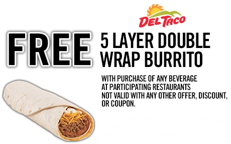 Tuesday Freebies – FREE Del Taco Burrito w/purchase