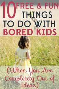 Eventually all kids get bored in the summer. Here are 10 free and fun things to do with bored kids when you are completely out of ideas.
