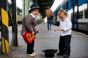 Raising kids doesn't have to  leave you singing for your supper - via Shutterstock