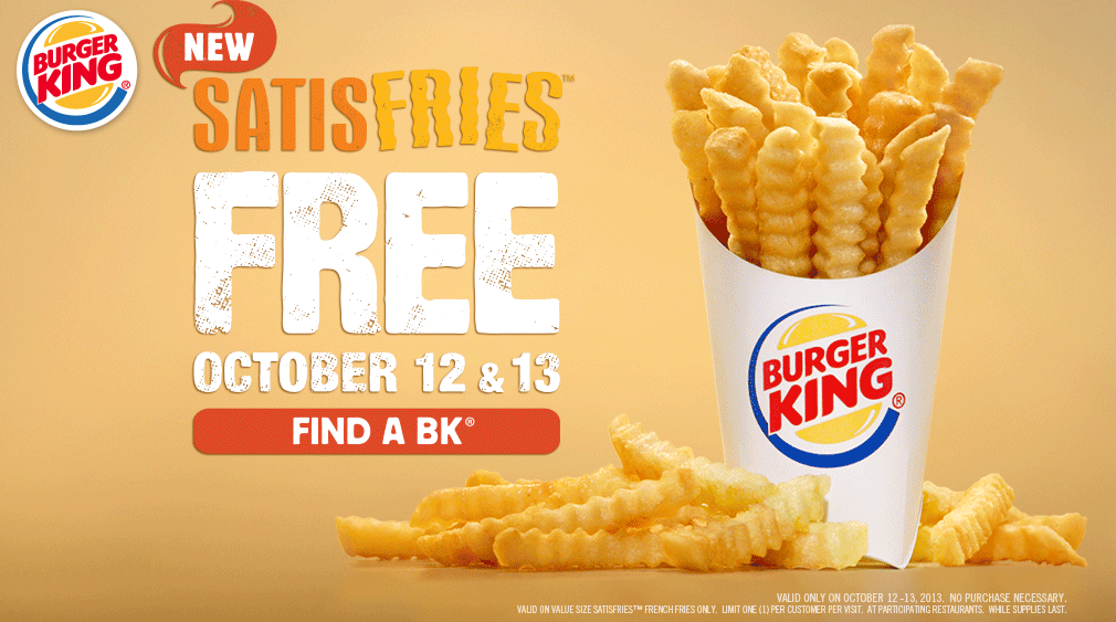 Friday Freebies – Free Burger King Fries