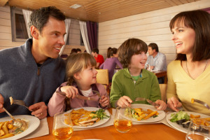 Don't feel like cooking? Eat out and score free kid's meals today! Via Shutterstock.