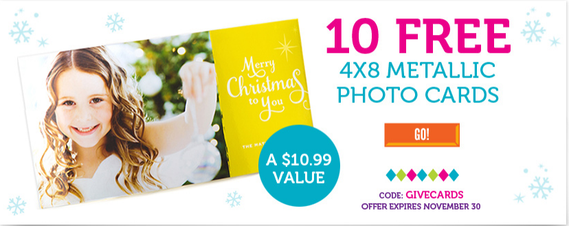 Thursday Freebies – Free Metallic Photo Cards from York Photo