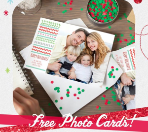 Score free holiday cards from Walgreen's today!