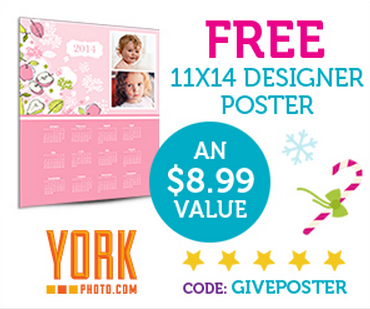 Saturday Freebies – Free Custom Poster from York Photo