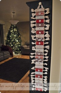Upcycled Toilet Paper Roll Advent Calendar