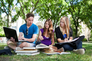 Should studying come first for college students? Via Shutterstock.