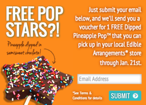 Score a free pineapple treat from Edible Arrangements today!