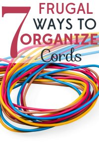 Electrical cords can become a tangled mess, plus they're such eyesores! Check out these 7 frugal ways to organize cords.