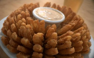 Score a FREE bloomin' onion at Outback today! Yum!