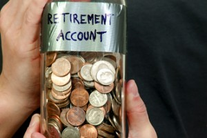 Should my retirement savings be more than just spare change? Via shutterstock.