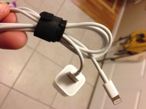 Velcro cord keeper