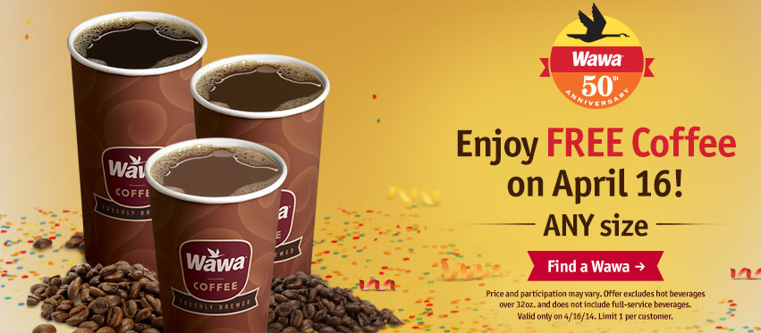 graphic about Wawa Coupons Printable referred to as Wednesday Freebies - Free of charge Espresso at Wawa