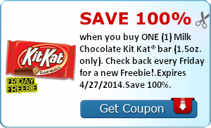 Kellogg's Savings Offer + Free Kit Kat Bar Coupon