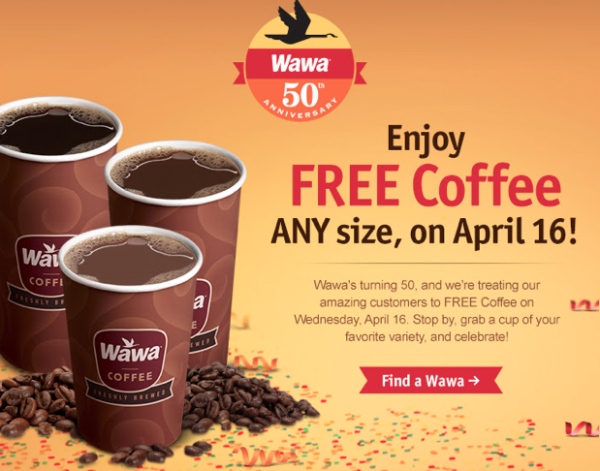 photo about Wawa Coupons Printable named Wednesday Freebies - Cost-free Espresso at Wawa
