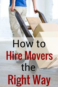 hire movers the right way