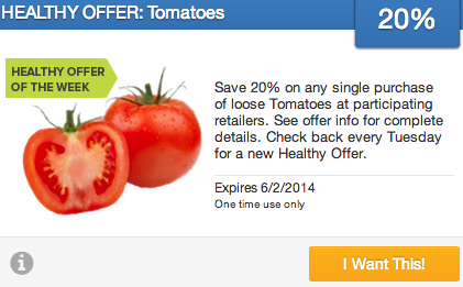 20% Off Tomatoes + $1 Off Cat Food Coupon