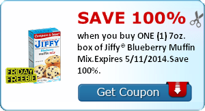 Free Audio Book + Free Jiffy Blueberry Muffin Mix