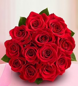Score one dozen FREE roses today!