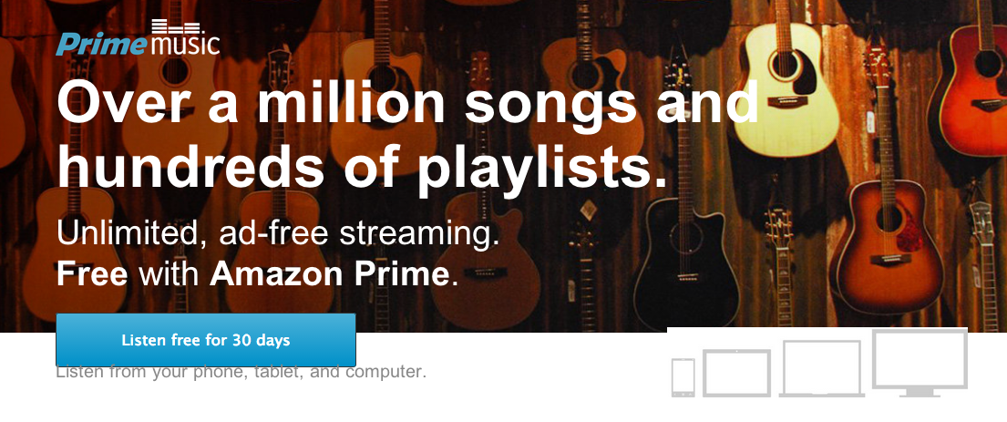 Amazon-Prime Music: Ad Free Music Streaming!