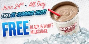 Score a FREE milkshake today! Yum!