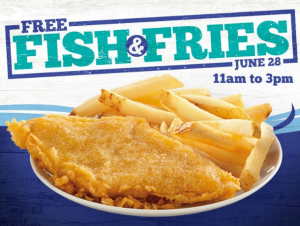 Score FREE fish and chip today! Yum!