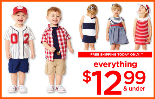 Gymboree $12.99 and Under Sale and Free Shipping!