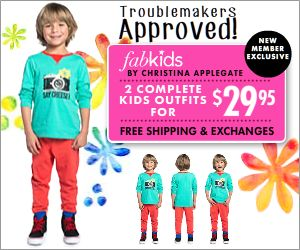 50% Off Your First FabKids Outfit!