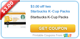 $3 Off Starbucks K-Cups + Personal Care Coupons