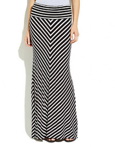 Chaus Black & White Chevron Maxi Skirt on sale for $19.95 (reg. $79!).