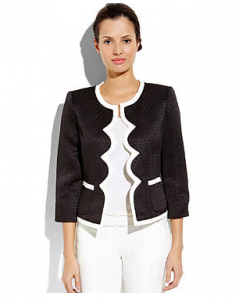 Kasper Petite Black & White Jacquard Jacket on sale for $32.42 (reg. $119!).