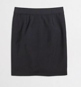 Factory Pencil Skirt in Lightweight Wool on sale for   $69.99 (reg. $95!).