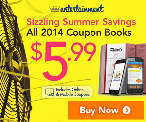 EntertainmentBook.com 2014 Coupon Books Only $5.99!