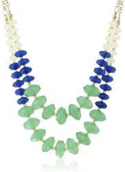 "Stone Deco Brass Ox Crystal Necklace, 16"" On sale $22 (reg. $44!)"