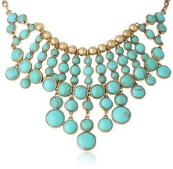 "Lucky Brand Turquoise-Color Stone Necklace, 17"" On sale for $45 (reg. $75!)."