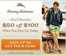 $50 Off $100 Tommy Bahama Purchase!