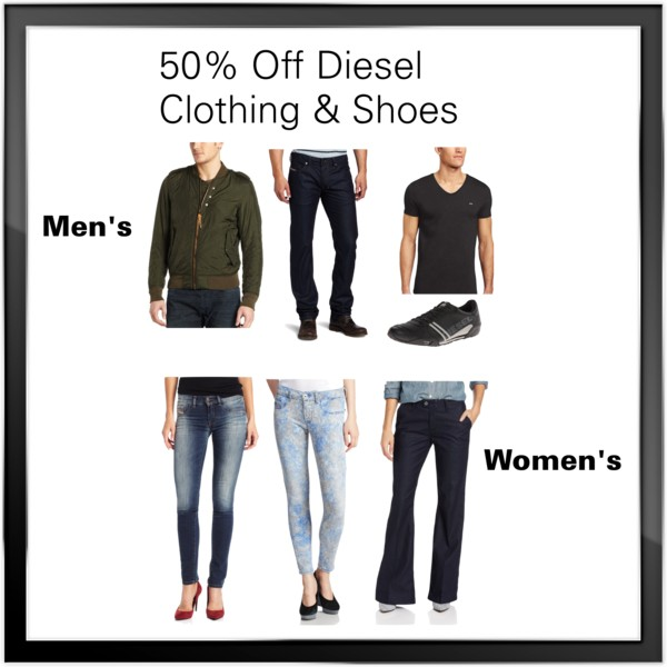 TODAY ONLY! 50% Off Diesel Clothing for Men & Women!