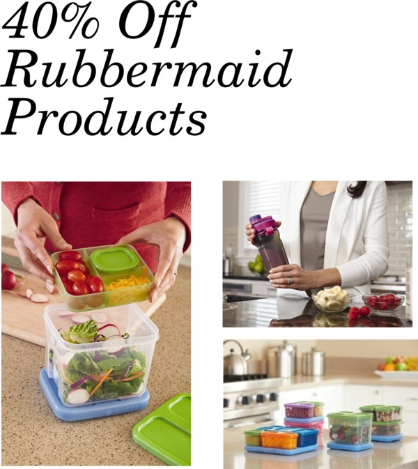 TODAY ONLY! Up to 40% Off Rubbermaid Products!