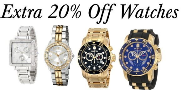 Extra 20% Off Watches on Amazon!