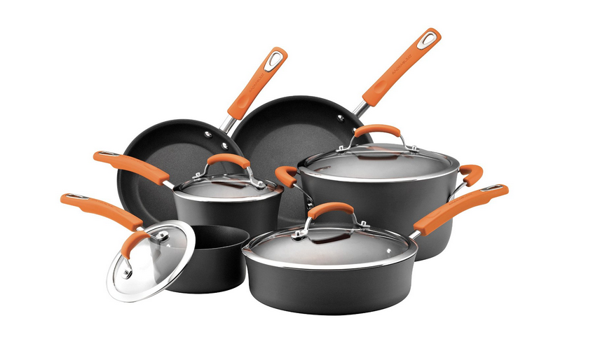 TODAY ONLY! Rachel Ray 10-Piece Cookware Set $99 Shipped – Regularly $255!