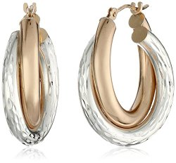 Two-Tone Hoop Earrings 64% Off!