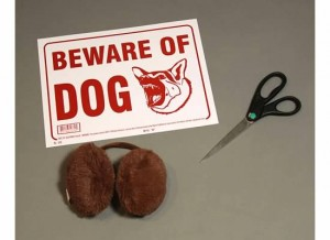 Beware of Dog Costume materials
