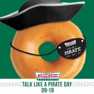 Score a FREE doughnut at Krispy Kreme today. Yum!