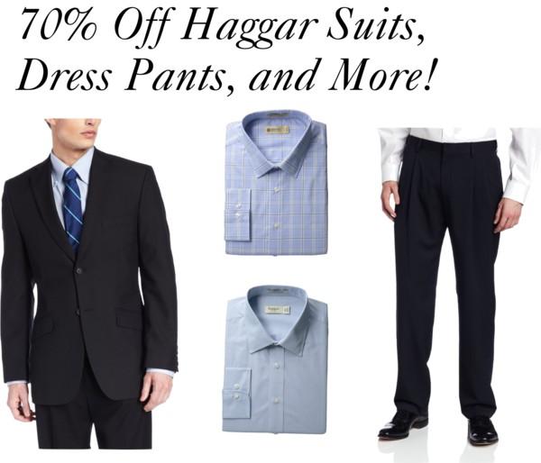 HOT! 70% Off Haggar Suits, Dress Pants, and More!