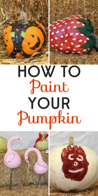 Forget about the mess of carving pumpkins! Painted pumpkins are stylish and fun to make. The best part: no clean up!