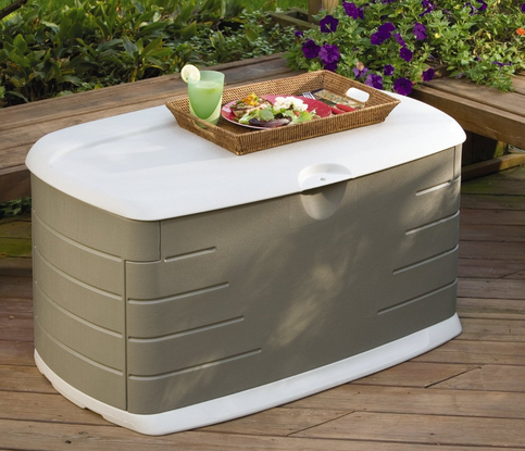 HOT! Rubbermaid Deck Box with Seat Only $63 (Reg. $112!)