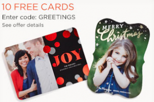 Score 10 FREE custom greeting cards from Shutterfly today!